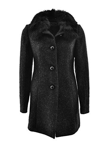 AJAY By LIU JO cappotto navetta con pelliccia di volpe removibil -bottoni lucidi (44)