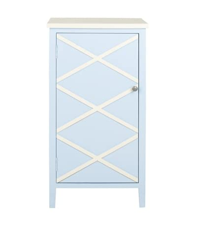 Safavieh Cary Small Cabinet, Light Blue/White