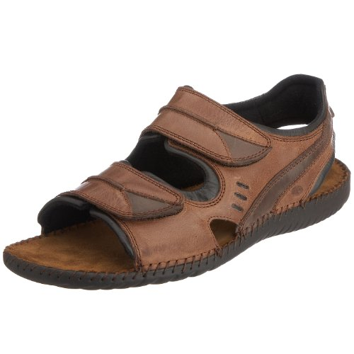 Josef Seibel Men's Formosa 04 Leather Nubuck Sandal Brasil/Choco 11266 73344 7 UK
