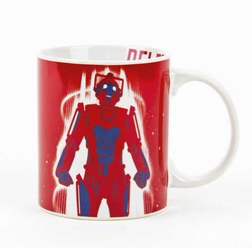 Doctor Who Red Cyberman Ceramic Mug, 11 Oz And A Free Rcs Key Chain