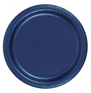 72 navy blue desert cake paper plates 7in kitchen dining. Black Bedroom Furniture Sets. Home Design Ideas