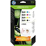 HP 364XL - 4-pack Black/Cyan/Magenta/Yellow Original Ink Cartridges High Yield Combination Pack (J3M83AE)