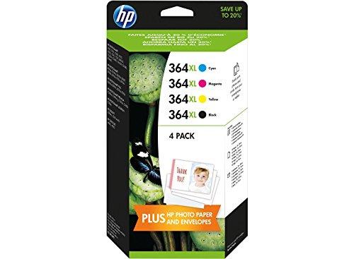 HP 364XL Cartouche d'encre d'origine J3M83AE Lot de 4 Noir Cyan Magenta Jaune
