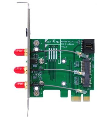 Bplus Mp2W-Rpsma : Full & Half Mpcie / Minicard To Pcie Adapter With Usb2.0 Interface & 3Pcs Rp-Sma Connectors For Wi-Fi & Bluetooth.