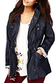 Indigo Collection Pure Cotton 4 Pockets Waxy Jacket [T66-6164-S]