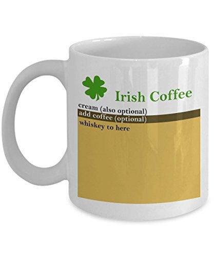 Funny Irish Coffee Mug - Irish Coffee Recipe - Gift for Irish Lovers (Irish Coffee Mugs With Recipe compare prices)