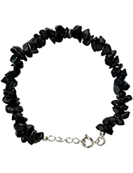 WCJ Silver Chakra Tourmaline Bracelet For Protection Against Negativity
