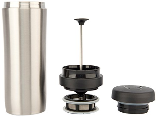 Espro Stainless Steel 12 Ounce Travel Press with Tea Filter, Brushed Stainless (French Press For Loose Tea compare prices)