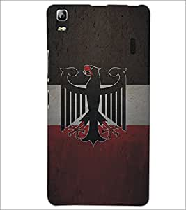 PrintDhaba Eagle Pattern D-5325 Back Case Cover for LENOVO A7000 (Multi-Coloured)