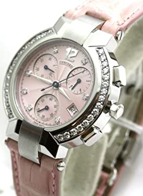 Concord La Scala Chronograph with Diamond Markers and Diamond Bezel Women's Watch from concord