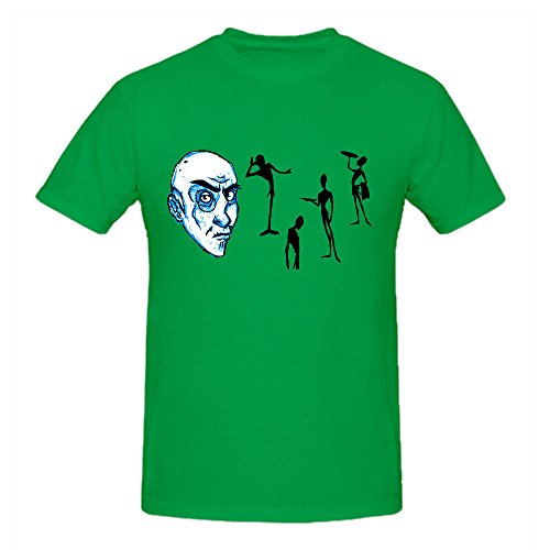 Cartoon Character Mens T Shirts Design Crew Neck Green Cotton (Piano By Number For Kids compare prices)