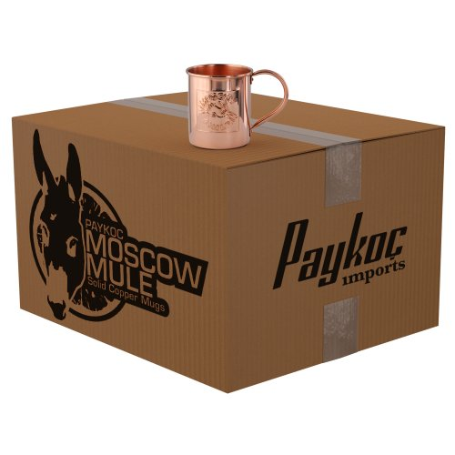 25 embossed logo solid copper moscow mule mugs by paykoc 12082lx25