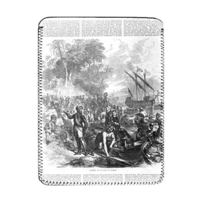 Landing of De Soto in Florida, from.. - iPad-Abdeckung(Schutzhülle) - Art247 - iPad Cover