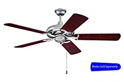 Craftmade CI52BN 52-Inch Civic Ceiling Fan Brushed Nickel (Walnut Blade Set Sold Separately)