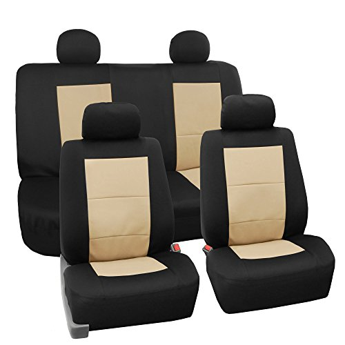 FH GROUP FH-FB085114 EVA Foam Premium Waterproof Car Seat Covers Beige- Fit Most Car, Truck, Suv, or Van (Seat Covers Honda Accord 1995 compare prices)