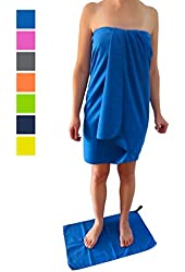 "Microfiber Travel Towel XL 30x60"" with FREE Hand Towel - Fast Drying, Compact, Soft, Light, Antibacterial. For Backpacking, Camping, Beach, Gym, Swimming. Gift Box and Carry Bag Money Back Guarantee."