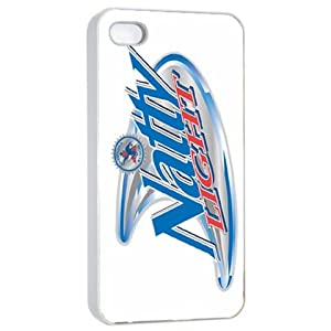 Funny Natty Light Natural Light beer logo white iphone 4/4s case at amazon