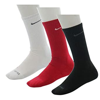 Nike Dri Fit Men's Cushioned Crew Socks 3 Pack Sz L Multi