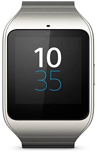 Sony SWR50 SW3 SmartWatch 3 Powered by Android Wear Silver Metal Strap (International Version no warranty)