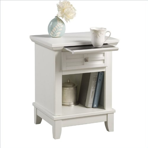 Find Discount Home Styles 5182-42 Arts and Crafts Night Stand, White Finish