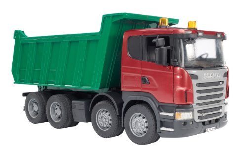 3550 Scania R-series Tipper Truck 3550 Assorted Colours By Bruder