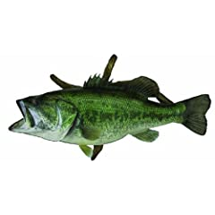 HQ Taxidermy BLM23.0-DW 23-Inch Largemouth Bass Replica Wall Mount with Driftwood by HQ Taxidermy