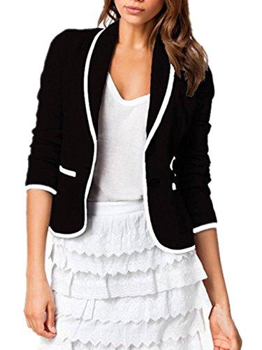 ZANZEA-Femme-OL-Blazer-Col-V-Manche-Longue-Suit-Veste-Blouson-Manteau-Costume