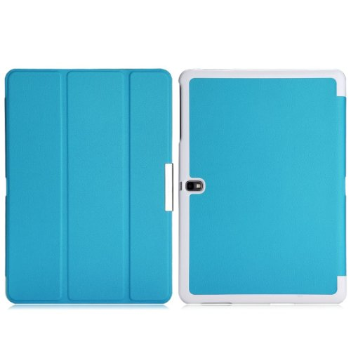 Wawo Samsung Galaxy Tab Pro 10.1 Inch Tablet Smart Cover Fold Case - Blue