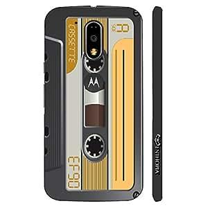 Enthopia Designer Hardshell Case Retro Cassette 6 Back Cover for Motorola Moto G4, Moto G4 Plus