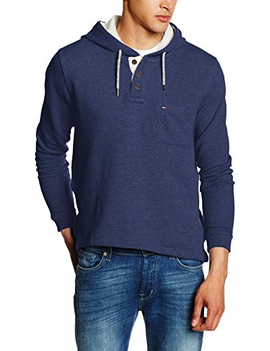 Hilfiger Denim Thdm HD Hknit L/S 11, Felpa Uomo, Blau (Dark Navy Heather 093), XX-Large