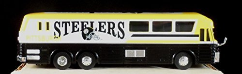 1996 White Rose Pittsburgh Steelers NFL Diecast Motorcoach Bus 1:64 - Scarce!