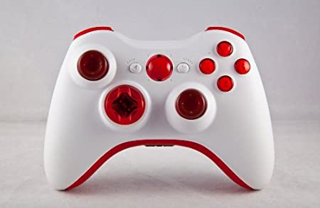 Xbox 360 Modded Controller COD MW3, Black Ops 2, MW2, Rapid fire mod (White/Blood Red)