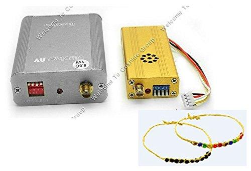 5.8Ghz Wireless Mini 1W 8Ch Audio Video Av Sender Transmitter&Receiver W/Antenna + Blueskysea Free Gift Happiness Grass Ring Bracelets