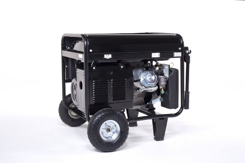 Lifan Pro Series LF7000-CA 7000 Watt Comercial/Contractor/Rental Grade 13 HP 389cc OHV Gas Powered Portable Generator with Recoil Start and Wheel Kit with Never-Flat Foam Filled Tires (CARB Certified)