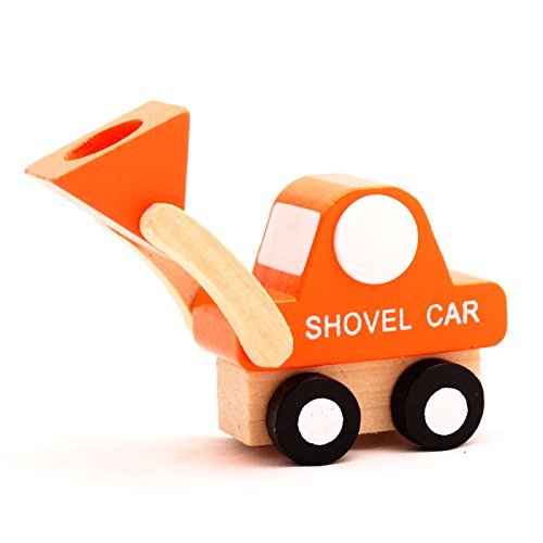 Mini Wooden Car Shovel Car,T00077 - 1