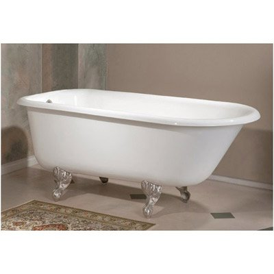 Cheviot 54 Inch Cast Iron Clawfoot Tub 2094 WW BN Brushed Nickel