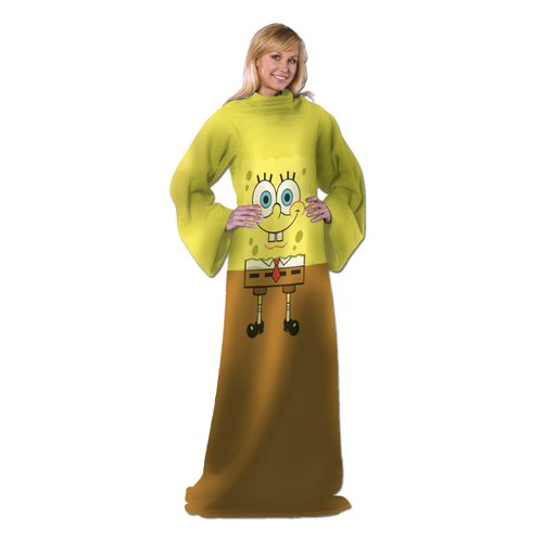 nickelodeon-spongebob-squarepants-being-bob-48-inch-by-71-inch-adult-comfy-throw-with-sleeves-by-the
