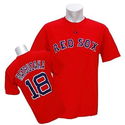 (マジェスティック)Majestic MLB レッドソックス #18 松坂大輔 Player Tシャツ (レッド) - S
