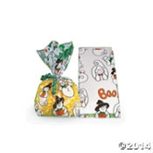 """Boo"" Ghost Cello Bags (12 Pc) Cellophane Treat Bags - 1"