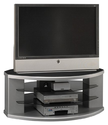 Cheap Bush Universal Collection Silver Gray Finish 60″ Plasma TV Stand Video Base (VS97250A-03)