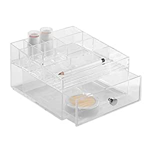 InterDesign Cosmetic Drawer Organizer, Clear