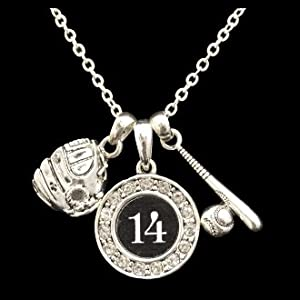 Buy Custom Player Jersey ID Softball Necklace (Available in 39 numbers) by MadSportsStuff