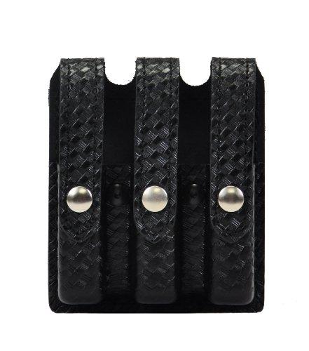 Safariland Duty Gear Glock 17, 22, 34, 35 Flat Top Slimline Triple Magazine Pouch (Basketweave Black) (Glock 35 Magazine compare prices)