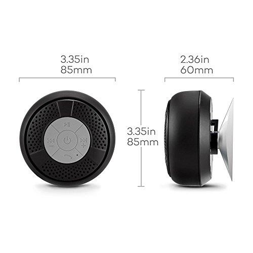 SEGURO® Bluetooth Impermeabile da Doccia Speaker Stereo per iPhone e Smartphone Android e Tablet PC, ecc (A2DP / AVRCP, Vivavoce, Microfono Integrato)