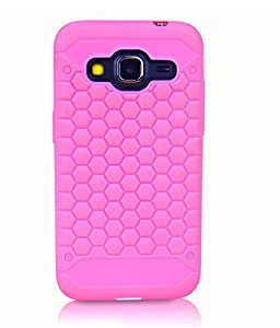 ImagineDesign Premium Beehive HoneyComb Pattern Back Case Cover for SAMSUNG GALAXY CORE PRIME / CORE PRIME 4G - Hot Pink