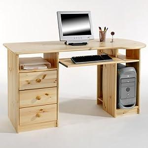 pc schreibtisch bob 2 nord kiefer massiv natur lackiert k che haushalt. Black Bedroom Furniture Sets. Home Design Ideas