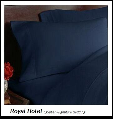 Royal Hotel's Solid Navy 1200 Thread Count 4pc Queen Bed Sheet Set 100% Egyptian Cotton, Sateen Solid, Deep Pocket, 1200 TC