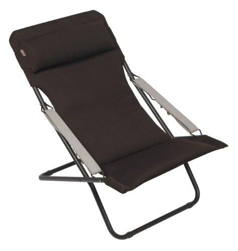 lafuma transabed xl air comfort marron chaise pliante mobilier de camping chaises. Black Bedroom Furniture Sets. Home Design Ideas