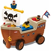 Little Tikes Play N Scoot Pirate Ship, Multi Color