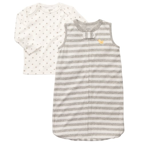 Carter'S Baby Sleepbag And Tee Set (0-9 Months) (3-6 Months, Grey) front-177814